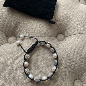 Jewelry - Shamballa Silver Rhinestone and Pearl bracelet
